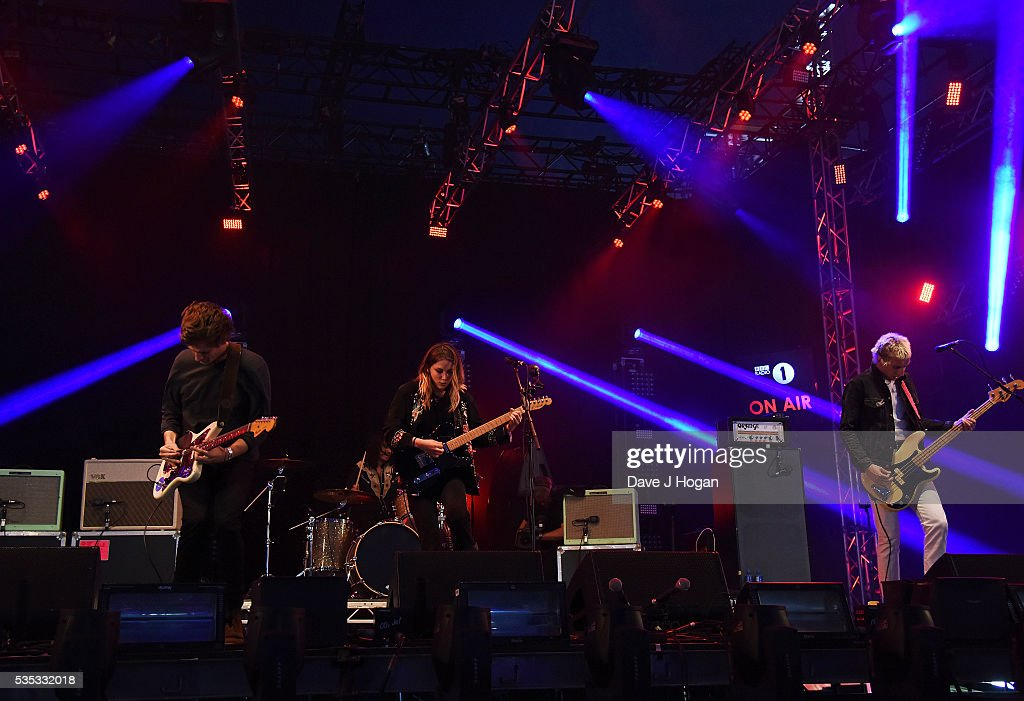 Wolf Alice performs during day 2 of BBC Radio 1's Big Weekend at Powderham Castle on May 29, 2016 in Exeter, England.