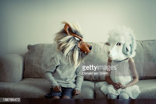 Wolf and Sheep : Stock Photo