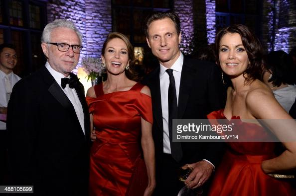 Wolf Blitzer Diane Lane Tony Goldwyn and Bellamy Young attend the Bloomberg Vanity Fair cocktail reception following the 2014 WHCA Dinner at Villa...