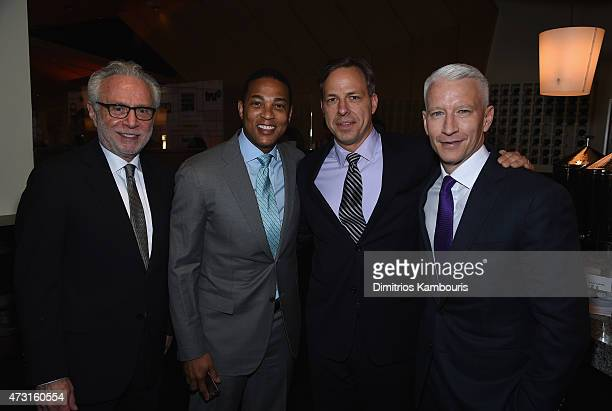 Wolf Blitzer Don Lemon Jake Tapper and Anderson Cooper attend the Turner Upfront 2015 at Madison Square Garden on May 13 2015 in New York City...
