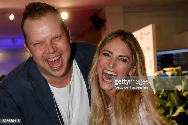 WolffChristoph Fuss arrives with Anna Kraft for the Bild Aufschlag Night of the 102 BMW Open by FWU at Iphitos tennis club on May 4 2017 in Munich...