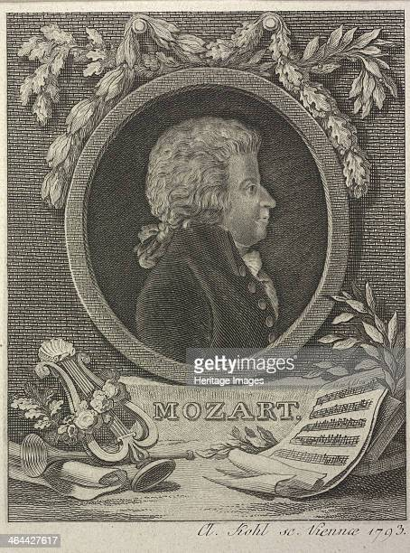 Wolfgang Amadeus Mozart 1793 From a private collection