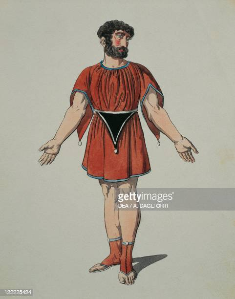Wolfgang Amadeus Mozart La clemenza di Tito K 621 1791 Costume sketch for a Roman slave for a performance in Vienna 1806