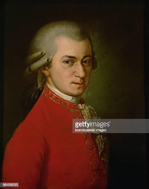 Wolfgang Amadeus Mozart Posthumous portrait Oil on canvas 1819 [Wolfgang Amadeus Mozart Posthumes Portrait oel/Lw 1819]