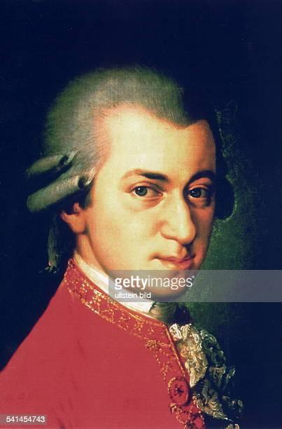 Wolfgang Amadeus Mozart Wolfgang Amadeus Mozart *2701175605121791 Musician composer Austria portrait undated