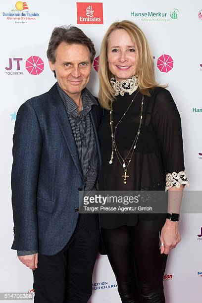 Wolfgang Bahro and his wife Barbara attend the JT Touristik Celebrates ITB Party at Soho House on March 10 2016 in Berlin Germany