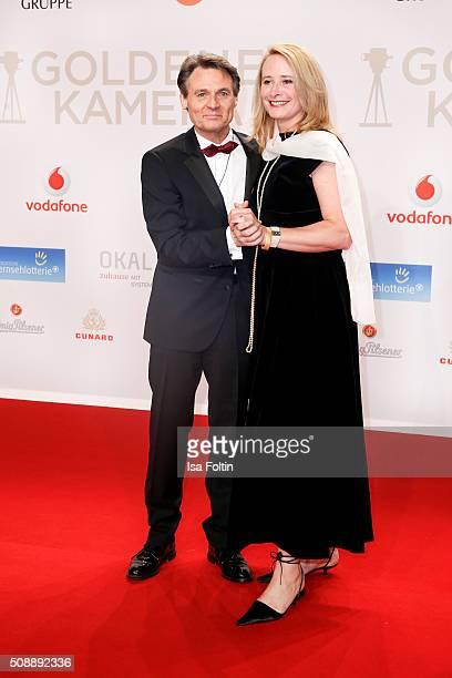 Wolfgang Bahro and his wife Barbara Bahro attends the Goldene Kamera 2016 on February 6 2016 in Hamburg Germany