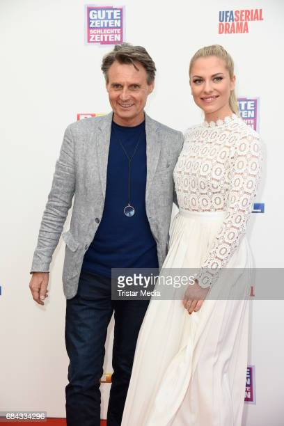 Wolfgang Bahro and Valentina Pahde attend the 25th anniversary party of the TV show 'GZSZ' on May 17 2017 in Berlin Germany