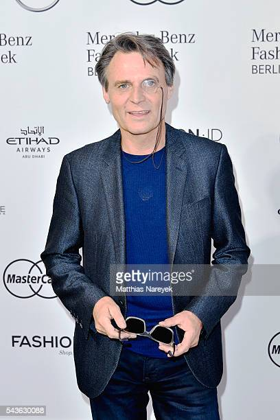 Wolfgang Bahro attends the Guido Maria Kretschmer show during the MercedesBenz Fashion Week Berlin Spring/Summer 2017 at Erika Hess Eisstadion on...