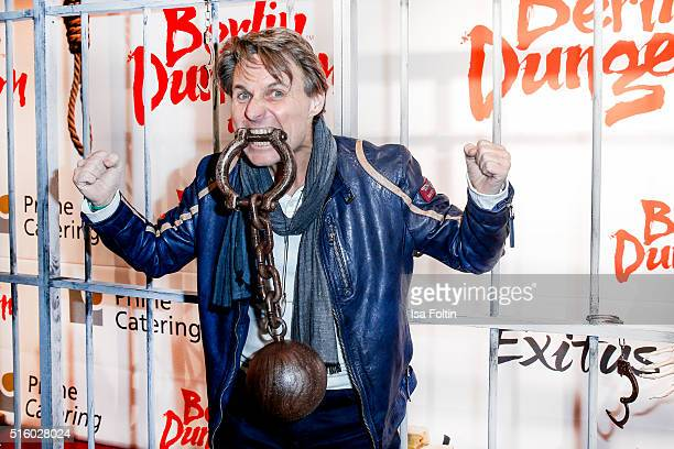 Wolfgang Bahro attends the Premiere Of 'Exitus' FreefallTowers At Berlin Dungeon on March 16 2016 in Berlin Germany