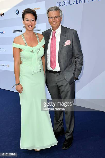 Wolfgang Bosbach and his daughter Caroline attend the summer party of Produzentenallianz on July 5 2016 in Berlin Germany