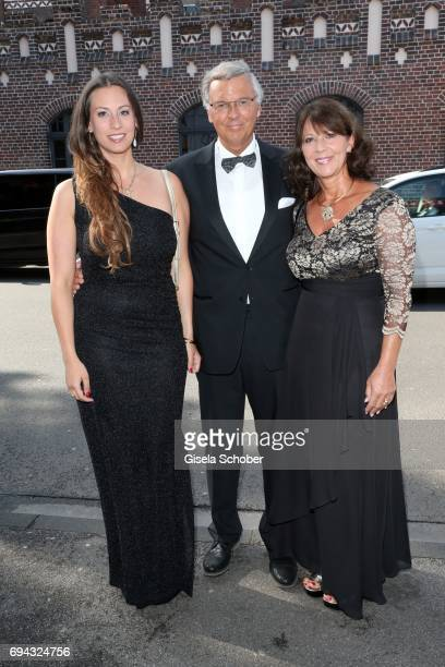 Wolfgang Bosbach and his wife Sabine Bosbach and his daughter Caroline during the Toni Kroos charity gala benefit to the Toni Kroos Foundation at...