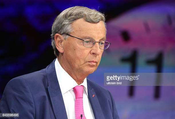 Wolfgang Bosbach in der ZDFTalkshow maybrit illner am in BerlinThema der Sendung Athen gegen Europa Sind die Griechen noch zu retten