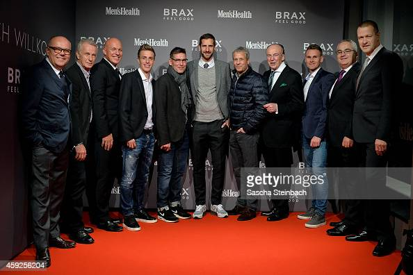 Wolfgang Drewalowski managing director of Brax Leineweber Rainer Bonhof vice president of Borussia Moenchengladbach Lars Bultink managing director of...