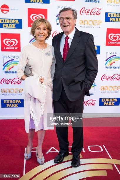 Wolfgang Gerhardt and his wife Marlies Gerhard attend the Radio Regenbogen Award 2017 at Europapark on April 7 2017 in Rust Germany