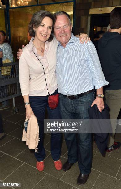 Wolfgang Heubisch and his wife Kristina Heubisch during Konstantin Wecker's 70th birthday at Circus Krone on June 1 2017 in Munich Germany