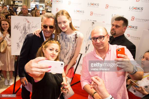 Wolfgang Joop and fans attend as he presents his new project at Breuninger on May 26 2017 in Duesseldorf Germany