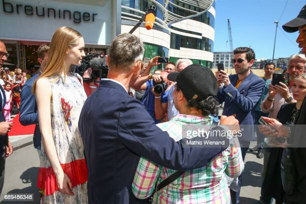 Wolfgang Joop and fans attend as Wolfgang Joop presents his new project at Breuninger on May 26 2017 in Duesseldorf Germany
