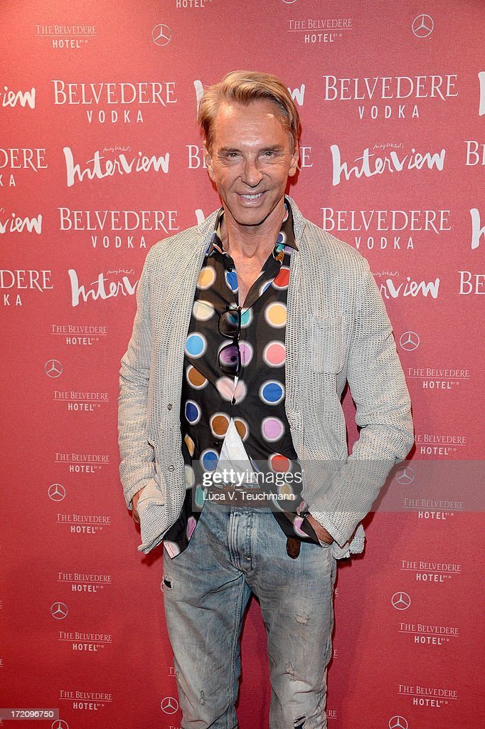 Wolfgang Joop attends the Belvedere Vodka and Interview Magazine Party at THE BELVEDERE HOTEL by Q! on July 1, 2013 in Berlin, Germany.