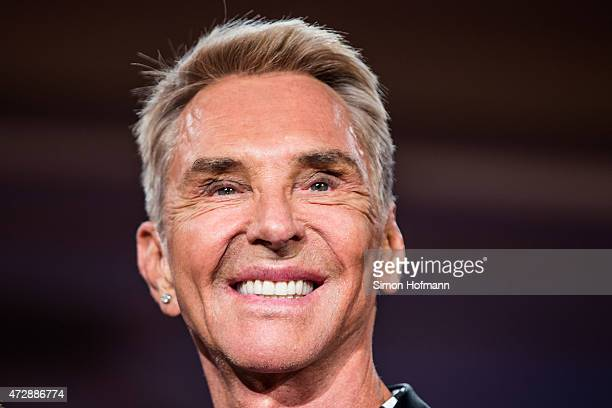 Wolfgang Joop poses during a photo call for the tv show 'Germany's Next Topmodel' on May 10 2015 in Heidelberg Germany The final of the 10th GNTM...