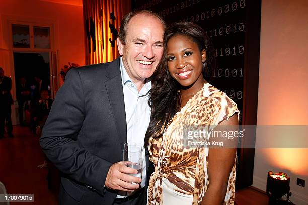 Wolfgang Kons and Motsi Mabuse attend the Bertelsmann Summer Party at the Bertelsmann representative office on June 6 2013 in Berlin Germany
