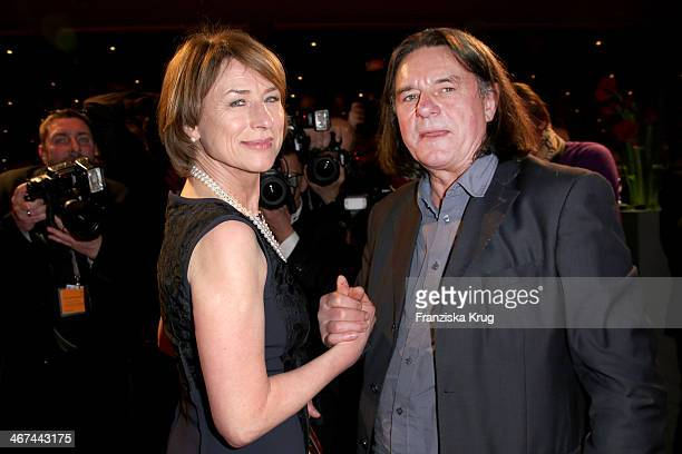 Wolfgang Krause and Corinna Harfouch attend the Opening Party 64th Berlinale International Film Festival at Berlinale Palast on February 06 2014 in...