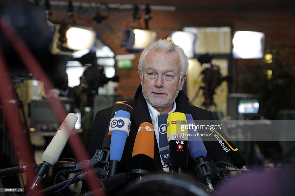 Wolfgang Kubicki from the Free Democratic Party speeks to the press a day after the SPD and German Greens party emerged with a hairline victory in Lower Saxony on January 21, 2013 in Berlin, Germany. The win has given the SPD a much needed boost following declining popularity figures for its chancellor candidate Peer Steinbrueck. Germany faces national elections later this year.