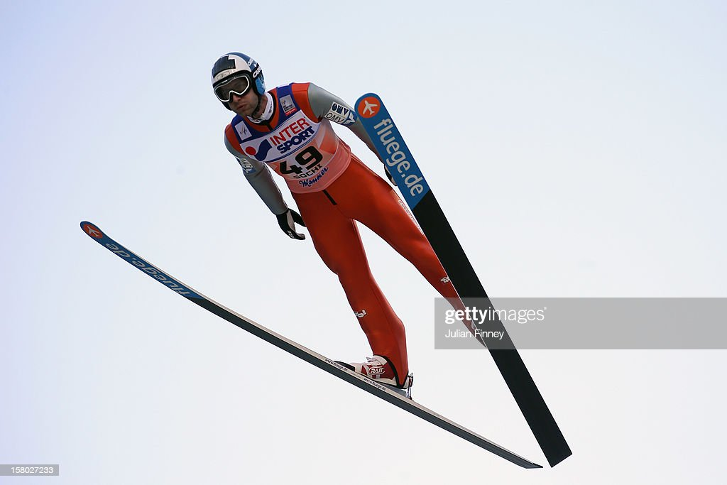 Wolfgang Loitzl of Austria competes in a Ski Jump during the FIS Ski Jumping World Cup at the RusSki Gorki venue on December 9, 2012 in Sochi, Russia.