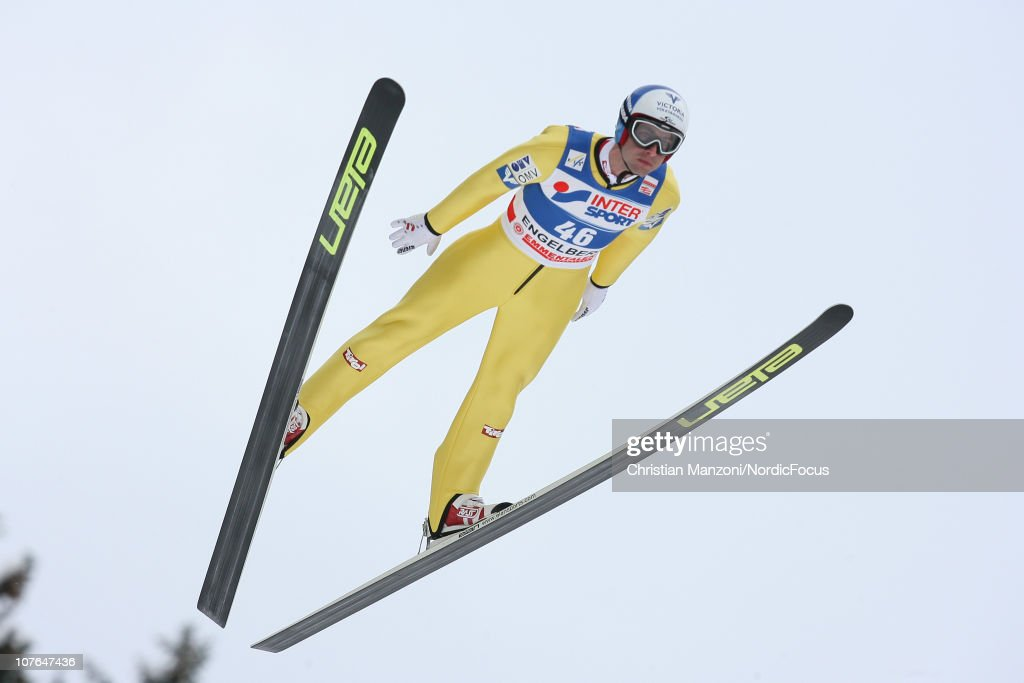 <a gi-track='captionPersonalityLinkClicked' href=/galleries/search?phrase=Wolfgang+Loitzl&family=editorial&specificpeople=2139272 ng-click='$event.stopPropagation()'>Wolfgang Loitzl</a> of Austria competes in the individual HS137 during in the FIS Ski Jumping World Cup on December 17, 2010 in Engelberg, Switzerland.