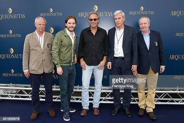 Wolfgang MllerTonder Daniel Bruehl Kevin Costner Heinz Hoeddinghaus and Hajo Schneider attend the Arqueonautas Presents Kevin Costner Music Meets...