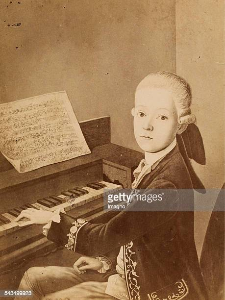 Wolfgang Mozart About 1890 Reproduction photograph by Würthle Spinhirn / Salzburg based on a painting of the young Mozart