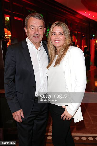 Wolfgang Niersbach and his girlfriend Marion Popp during the christmas party at Hotel Vier Jahreszeiten Kempinski on November 24 2016 in Munich...
