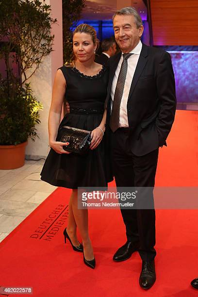 Wolfgang Niersbach and Marion Popp arrive the red carpet during the German Media Award 2014 on January 23 2015 in BadenBaden Germany