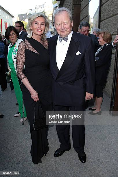 Wolfgang Porsche and his girlfriend Claudia Huebner attend the opening of the easter festival 2014 on April 12 2014 in Salzburg Austria