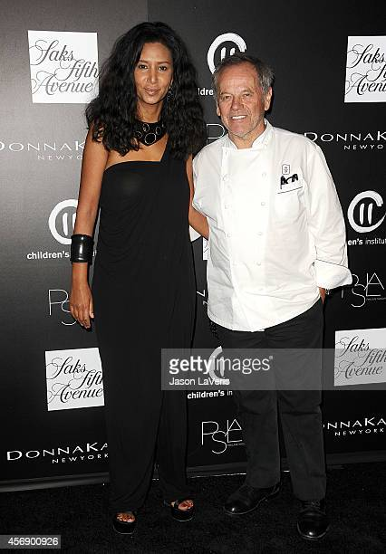 Wolfgang Puck and wife Gelila Assefa attend the 5th annual PSLA Autumn Party at 3LABS on October 8 2014 in Culver City California