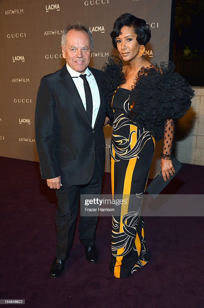 <a gi-track='captionPersonalityLinkClicked' href=/galleries/search?phrase=Wolfgang+Puck&family=editorial&specificpeople=157523 ng-click='$event.stopPropagation()'>Wolfgang Puck</a> and wife Gelila Pulk Puck arrive at LACMA 2012 Art + Film Gala Honoring Ed Ruscha and Stanley Kubrick presented by Gucci at LACMA on October 27, 2012 in Los Angeles, California.