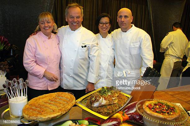 Wolfgang Puck executive pastry chef Sherry Yard and Master chef Wolfgang Puck attend the 85th Annual Academy Awards Governors Ball red carpet preview...