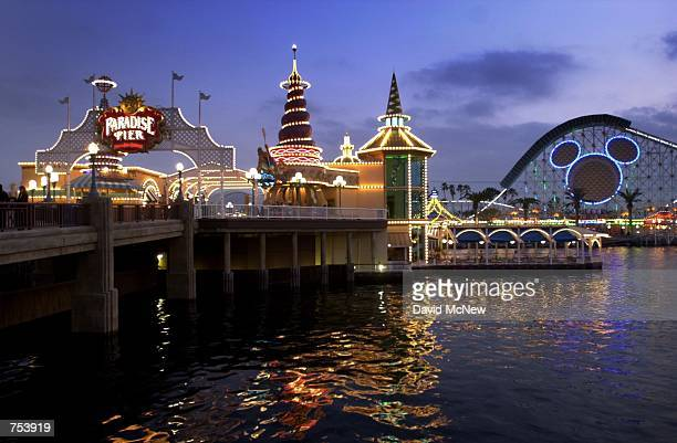 Wolfgang Puck's water front restaurant Avalon Cove shines during grand opening days of Disney's California Adventure theme park February 6 2001 in...