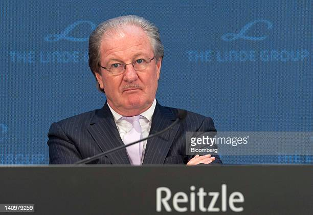Wolfgang Reitzle chief executive officer of Linde AG pauses during the company's results news conference in Munich Germany on Friday March 9 2012...