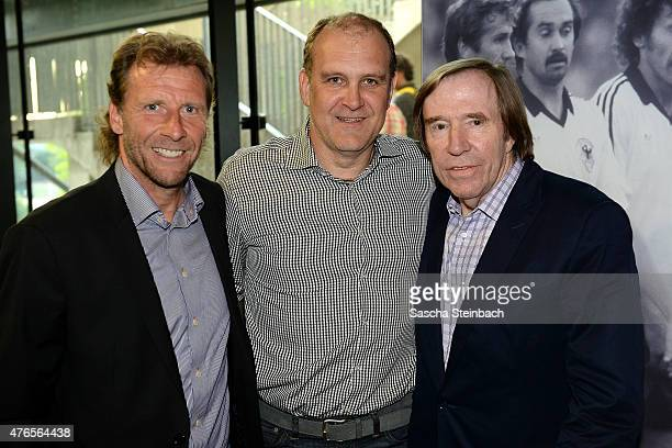 Wolfgang Rolff Joerg Schmadtke and Guenter Netzer attend the 'Club Of Former National Players' meeting at RheinEnergieStadion on June 10 2015 in...