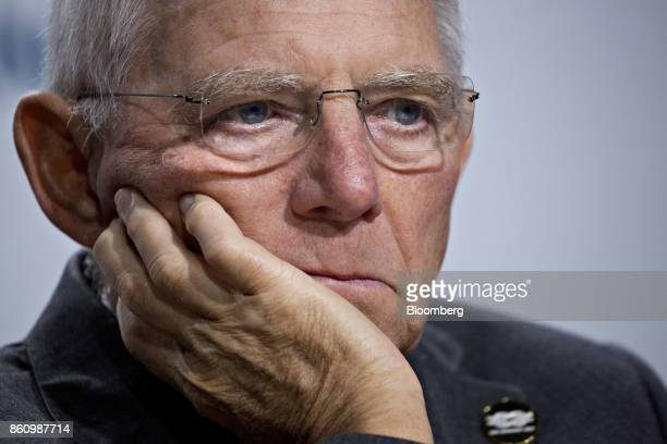 Wolfgang Schaeuble Germany's finance minister listens during a Group of 20 finance ministers and central bank governors news conference on the...