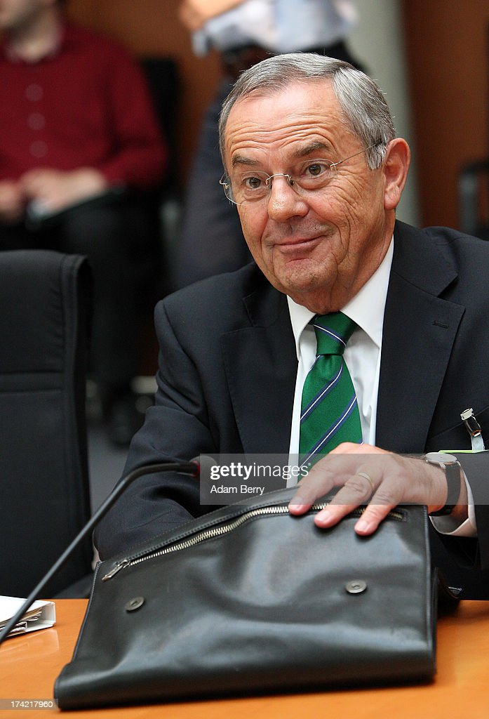Wolfgang Schneiderhan, former chief of staff of the Bundeswehr, the German armed forces, arrives for the first parliamentary inquiry witness hearing into the failed Euro Hawk drone project on July 22, 2013 in Berlin, Germany. The German government canceled the military project, which has already consumed EUR 562 million (USD 739 million) due to complications with domestic flight certification. The parliament is expected to interview military and government officials as well as senior executives from Northrop Grumman and European Aeronautic Defence and Space Company N.V. (EADS), producers of the drones, on the matter before reporting its results in September. The affair has put pressure on German Defense Minister Thomas de Maiziere prior to elections the same month.