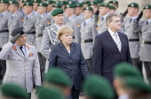 Wolfgang Schneiderhan Inspector General of German Armed Forces Angela Merkel CDU Federal Chancellor of Germany and Chairman of the Christian...