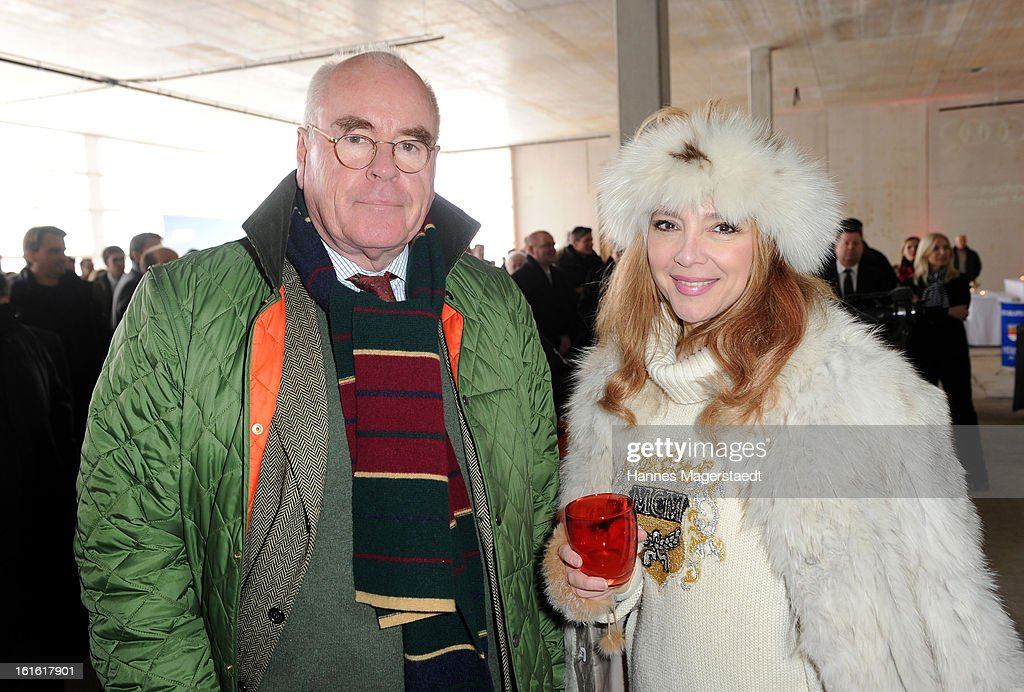 Wolfgang Seybold and Cornelia Corba attend the roofing ceremony at Audi second-hand car center on February 13, 2013 in Munich, Germany.