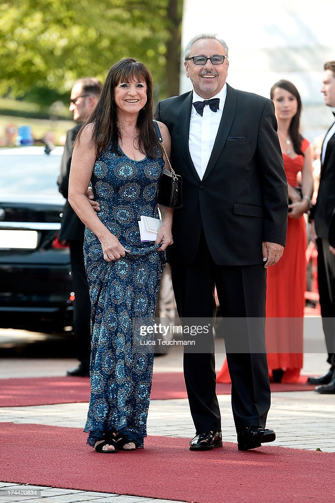 Wolfgang Stumph and wife Christine attend the Bayreuth Festival opening on July 25, 2013 in Bayreuth, Germany.