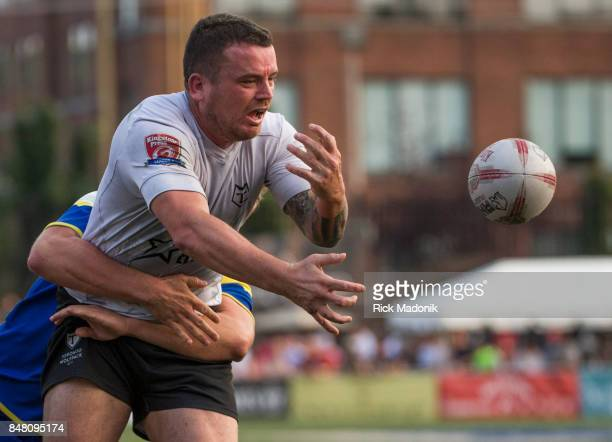 Wolfpack hooker Sean Penkywicz loses the handle of the ball when its knocked out his grasp from behind The Toronto Wolfpack 2nd half action as they...