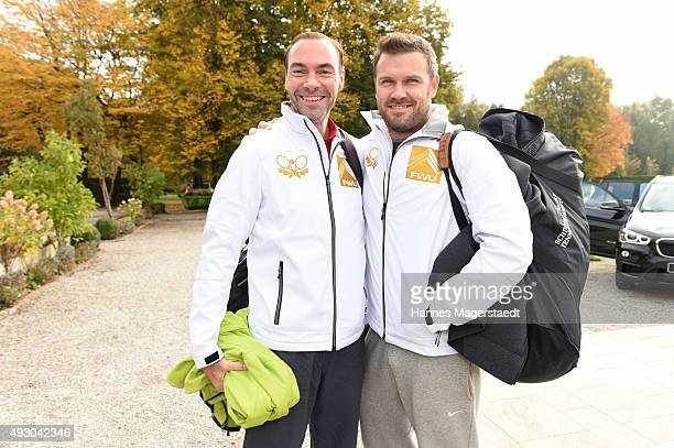 Wolfram Winter and Alexander Waske attends the 'Golden RacketCharity2015Tournament' on October 17 2015 in Munich Germany