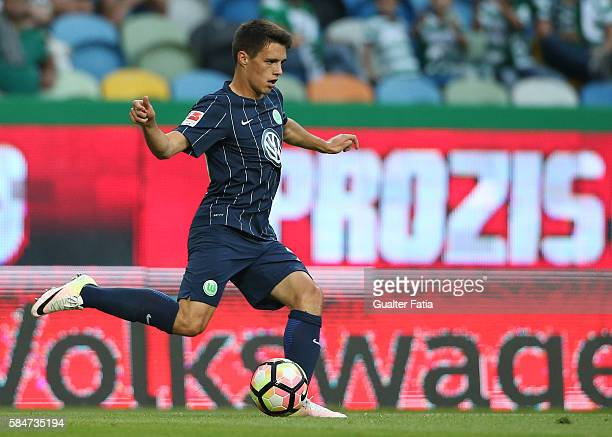 Wolfsburg's forward Josip Brekalo in action during the Pre Season Friendly match between Sporting CP and Wolfsburg at Estadio Jose Alvalade on July...