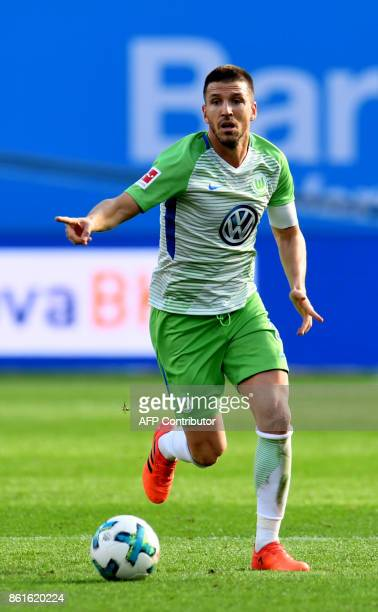 Wolfsburg´s Spanish midfielder Ignacio Camacho plays the ball during the German first division Bundesliga football match Bayer Leverkusen vs VfL...