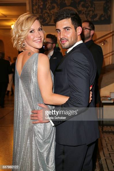Wolke Hegenbarth and her boyfriend Oliver during the Bayerischer Fernsehpreis 2016 at Prinzregententheater on June 3 2016 in Munich Germany